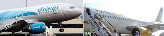 Fusión de altura: Vueling y Clickair.