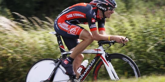 Alejandro Valverde, en la primera crono del Tour 2008