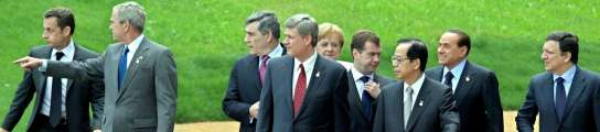 Los l�deres del G-8