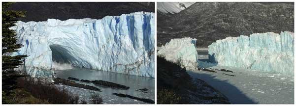 La caída de Perito Moreno, paso a paso