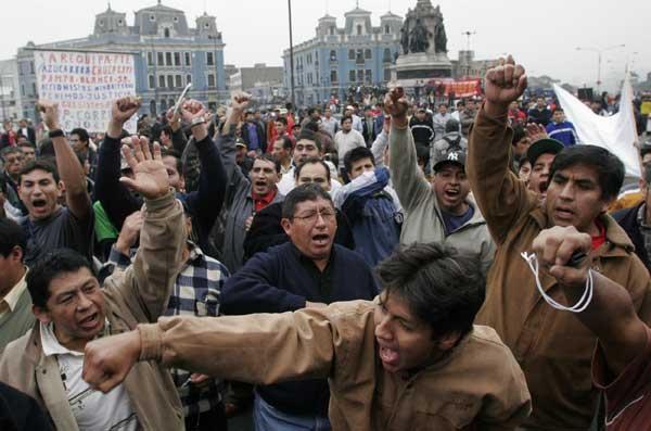 Manifestaciones en Perú