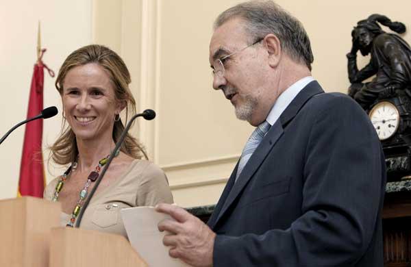 Pedro Solbes y Cristina Garmendia
