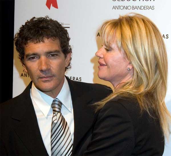 Antonio Banderas y su mujer, Melanie Griffith. Antonio Banderas