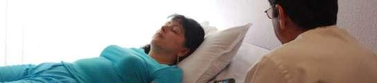Mateo durante una sesión de hipnosis
