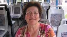 manuela, usuaria de autobús