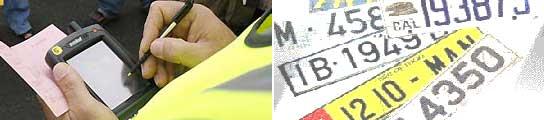 La DGT pone una media de 122 multas al día por trucar matrículas