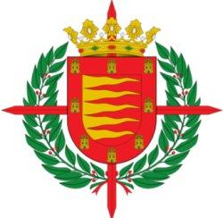 La cruz laureada del escudo de Valladolid fue concedida por Franco