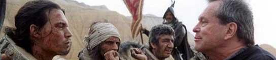 Johnny Depp y Terry Gilliam, durante el cancelado rodaje de 'El hombre que mató a Don Quijote'.