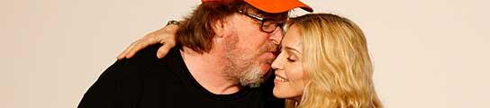 Michael Moore y Madonna, en la presentaci�n del documental.