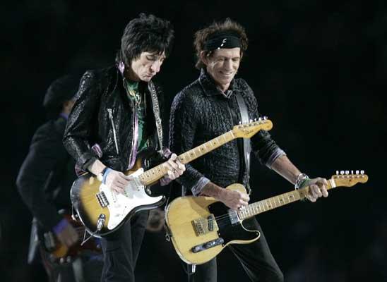 Keith Richards y Ron wood.