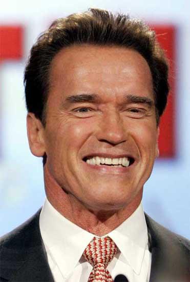 El gobernador de California y estrella de Hollywood, Arnold Schwarzenegger