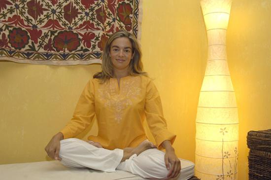 Susana Coloma, profesora de yoga