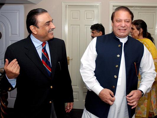 Reunión  entre Nawaz Sharif y Asif Zardari