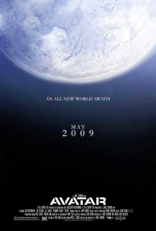 Cartel de 'Avatar', la próxima película de James Cameron.