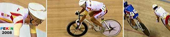 Joan Llaneras nos da la medalla de oro en la prueba de puntuación de ciclismo en pista