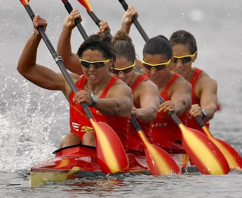 Embarcación femenina de K-4 de 500 metros