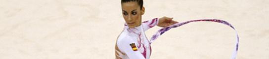 Almudena Cid, durante su ejercicio de cinta