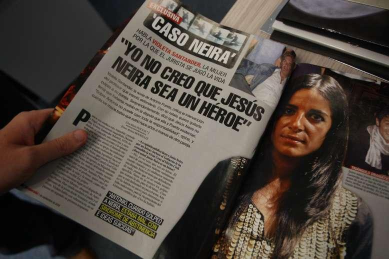 Violeta Santander en Interviú