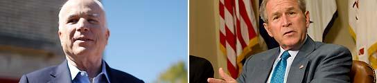"""Bush: """"EE UU necesita a McCain para que proteja al país de ataques como el 11-S"""""""