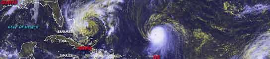 'Hanna' podría convertirse en ciclón este viernes y 'Ike' ya es un poderoso huracán