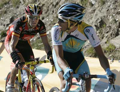Alberto Contador y Alejandro Valverde