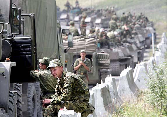 Tropas rusas en Osetia