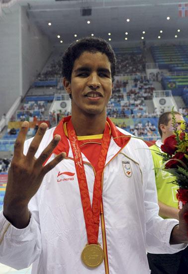 El nadador paralímpico Enhamed Enhamed