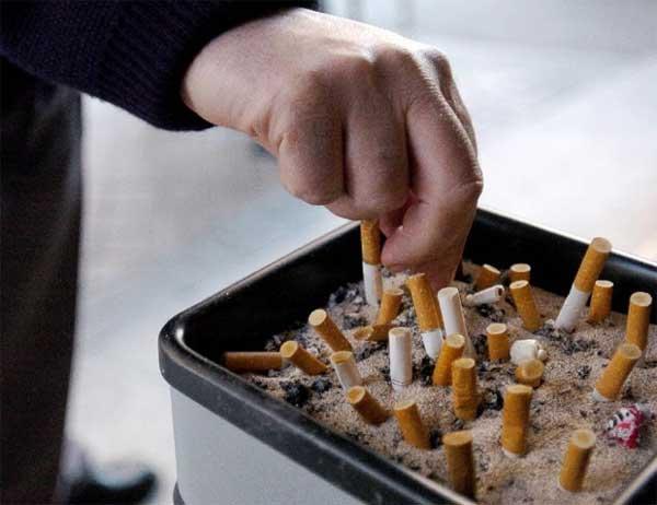 Colillas de cigarros apagadas