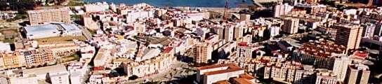 Imagen aérea de Algeciras.