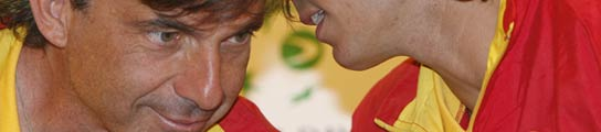 Emilio Sánchez Vicario y Rafa Nadal