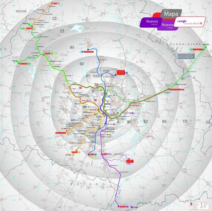 Mapa renfe cercanias madrid