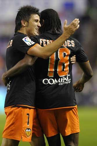 Manuel Fernandes y Villa con el Valencia