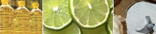 El aceite, los limones y la harina