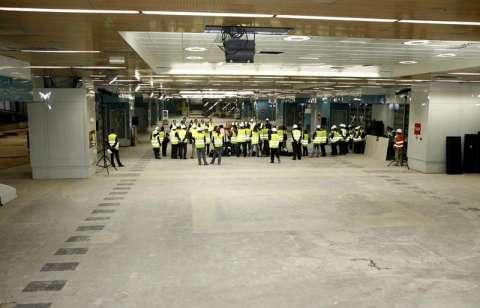 La estación de Moncloa, en obras