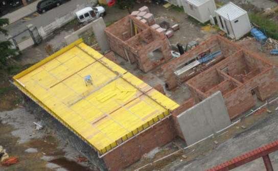 Una vista de las obras de la escuela de Montenuño