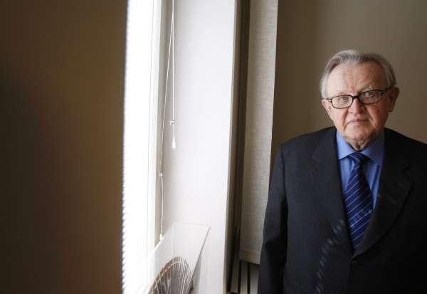 Martti Ahtisaari, premio Nobel de la Paz