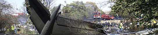 Avión de Spanair siniestrado en Barajas