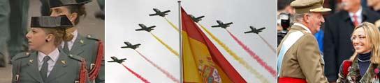 Concluye el desfile militar del Día de la Hispanidad, deslucido por el mal tiempo