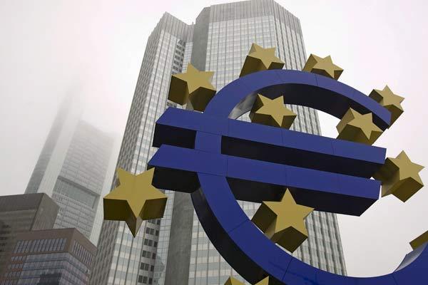 Símbolo del euro, moneda única en Europa