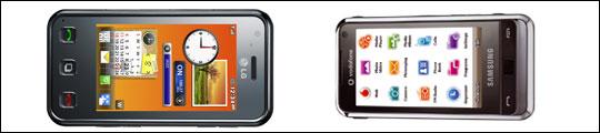 Los nuevos táctiles de Samsung y LG