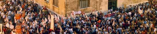 Protesta contra Educación para la Ciudadanía en inglés