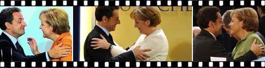 Merkel y Sarkozy.