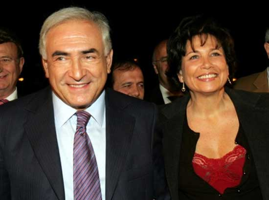 Dominique Strauss-Kahn y su esposa Anne Sinclair
