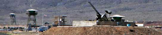 Unas baterías antiaéreas en Natanz