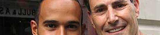 Uri Geller y Lewis Hamilton.