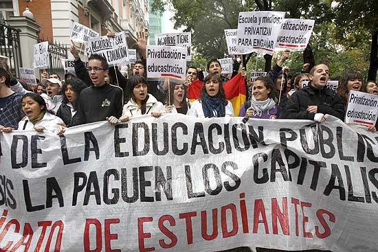Protestas de estudiantes.