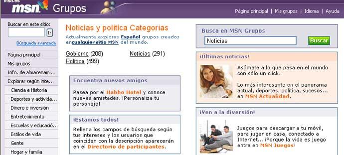 MSN Grupos