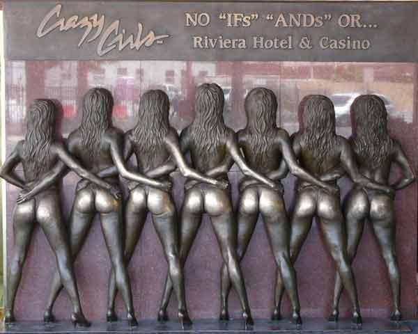 Las chicas del Hotel Riviera en Las Vegas