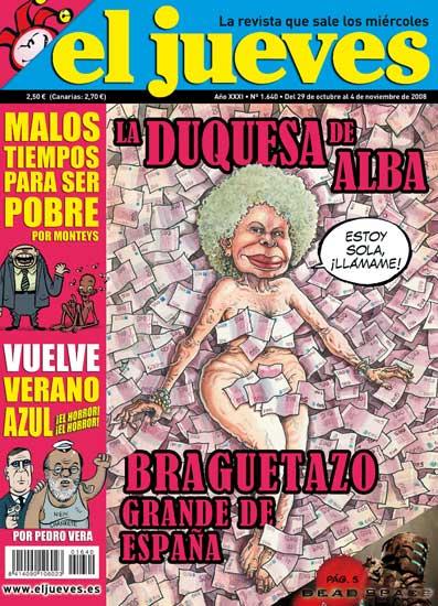 El Jueves Desnuda A La Duquesa De Alba A Lo American Beauty Pero