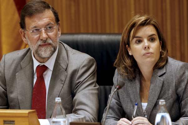 Mariano Rajoy y Soraya Sáenz de Santamaría,